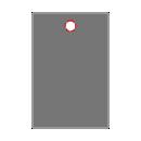 Centre 1 Hole Drill 0.125 in Round icon