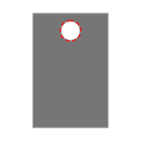 Centre 1 Hole Drill 0.25 in Round icon