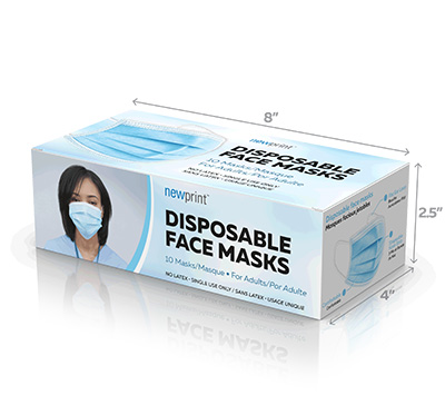 Face Mask Boxes that fits 10 face masks