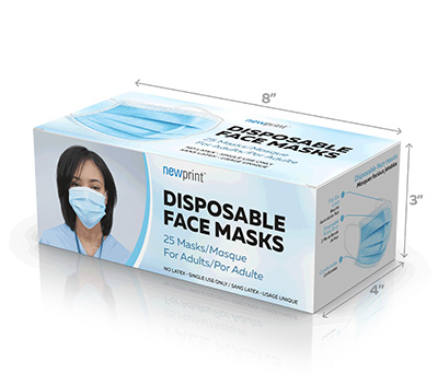 Face Mask Boxes that fits 25 face masks